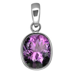 Amethyst Pendant Silver For Men And Women Astrological Gemstone
