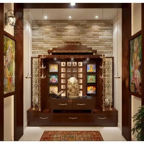 Brown Wall Mounted Wooden Temple, for Home, Rs 10000 /unit M.K. ...