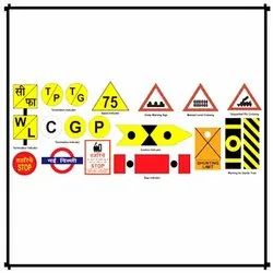 Railway Reflective Sign Board