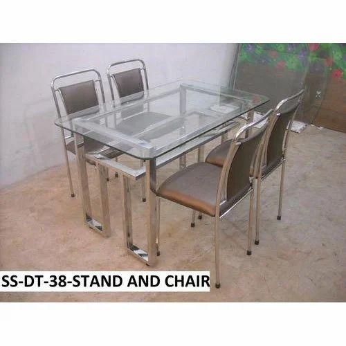 Steel Dining Table Set At Rs 25500 Set डाइनिंग टेबल सेट