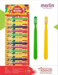 Soft Multicolor Merlin Young Toothbrush