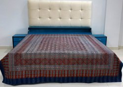 Ajrak Hand Block Printed Kantha Bed Covers