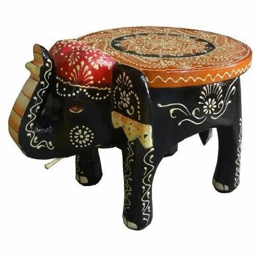 Excellent Wooden Elephant Stool Onthecornerstone Fun Painted Chair Ideas Images Onthecornerstoneorg