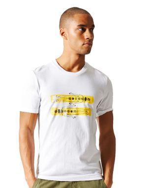 733bb313f402d 70% Cotton and 30% Polyester White Mens Originals Pharrell Williams Graphic  Tee