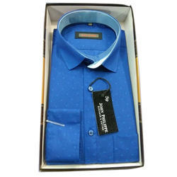 42.0 , 44.0 Blue Men's Printed Shirt