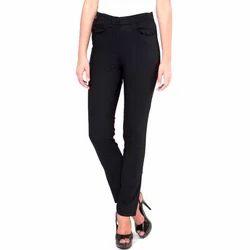 Small Plain Ladies Cotton Trousers