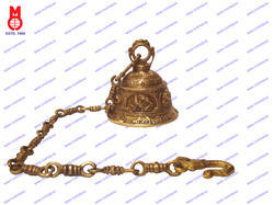 Temple Bell With Carved With Ganesh & Mantra