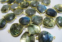 Natural Blue Flashy Labradorite Briolettes Connectors
