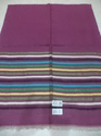 Fine Wool With Multi Stripes Border Stole