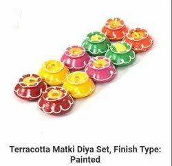 Terracota Matki Diya Set (Small)