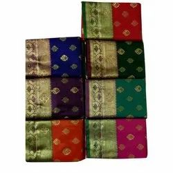 Mama Collection Wedding Wear Trendy Silk Saree, 6.3 m (with blouse piece)