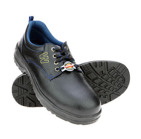 Leather Black Liberty Safety Shoes, Rs