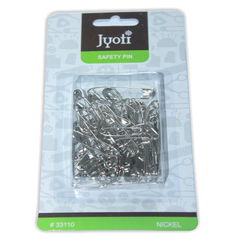 Jyoti Safety Pin - Nickel - Assorted