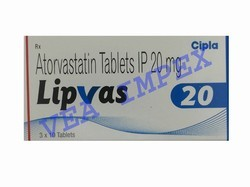 Lipvas 20mg Atorvastatin Tablets