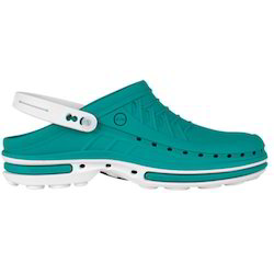 a14e5639e0300 Men Green and White Autoclavable Clog Shoes