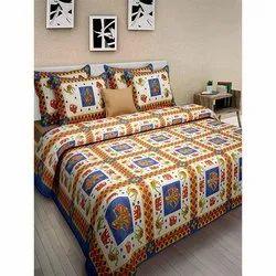 Dashing Look Multi Colour Bedsheet