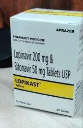 Lopikast (Lopinavir 200 mg & Ritonavir 50mg Tablets)