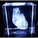 3D Laser Engraving Heart