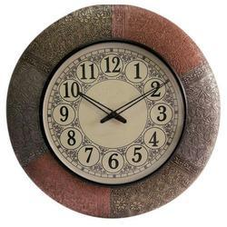 Analog Wooden Round Wall Clock, Size: 10 inch