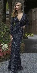 Party Wear Stitched Embroidered Evening Gown
