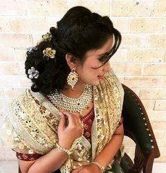 Bun Styling Look Bridal Makeup