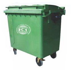 King International Fiber Bin with Trolley with 4 tier