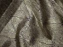 Beige Indian Silk Floral Design Wedding Dress Brocade Fabric