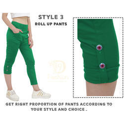 Green Roll Up Pants