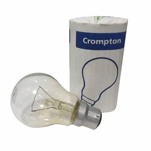 Round 100 W 100W Crompton Bulb