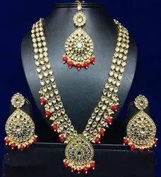 Artificial Jewelry as photo Bridal Kundan Set, Size: Adjustable
