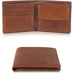 Brown Leather Men''S Wallet