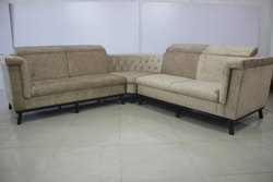Ivory Wooden Corner Sofa
