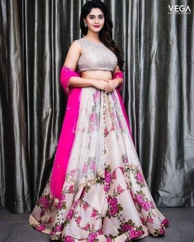 ce7894dff8f5a8 Party Wear New Designer Floral Embroidered Net Lehenga Choli, Rs ...