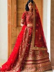 Heavy Women's Embroidery Bridal Lehenga Choli By Parvati Fabric (76643)