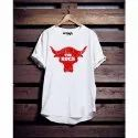 Male Casual Wear Mens White Round Neck Cotton T Shirt