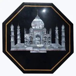 Black Marble Stone Table Top