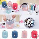 Round Shaped Cosmetic Makeup Travel Bag Pouch