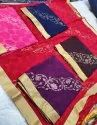 Chiffon Brush Print Saree