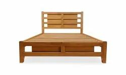 Natural, Walnut Antique Teak Wood Bed, Size: Customizable