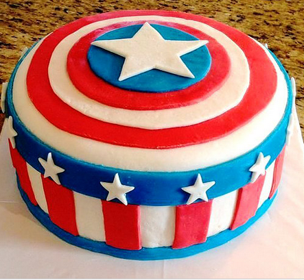 Stupendous Captain America Cake Getsetcake New Delhi Id Funny Birthday Cards Online Alyptdamsfinfo