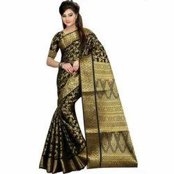 Ladies Fancy Jacquard Silk Saree