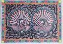 Madhubani Handmade Peacock Painting