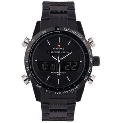 Naviforce Men''s Analog & Digital Black Dial Fashion Wrist Watch Nf9024