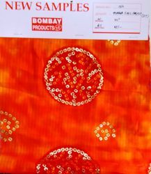 Print Munga with foil D No 1002 Sst Fabric