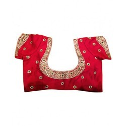 Red Color Embroidered Designer Blouse