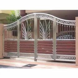 Modern Stainless Steel Gate for Residential, Size: 5.5*9Feet (H*L)