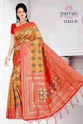 Designer Fancy Patola Silk Saree With Blouse By Parvati Fabric
