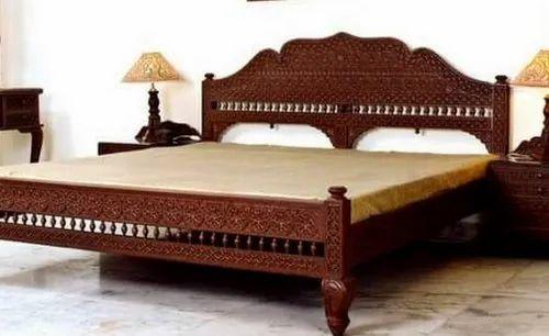 Wooden Bed, लकड़ी के बिस्तर, लकड़ी का पलंग - KDM Enterprises, Barmer | ID:  20433093433