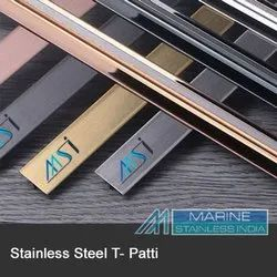 STAINLESS STEEL ROSEGOLD T PATTI