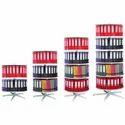 Brown & Grey Rounda-file Filing System